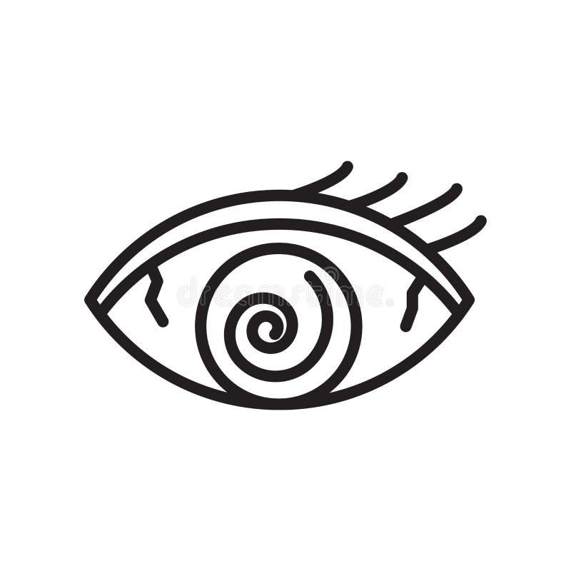 Zmęczenie ikony wektoru znak i symbol odizolowywający na białym tle ilustracja wektor