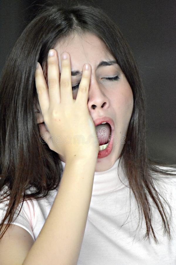 Zmęczona Australijska Dorosła kobieta zdjęcia royalty free