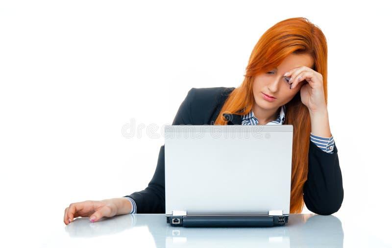 Zmęczona biznesowa kobieta obraz royalty free