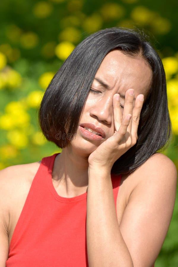 Zmęczona Dorosła kobieta zdjęcia stock