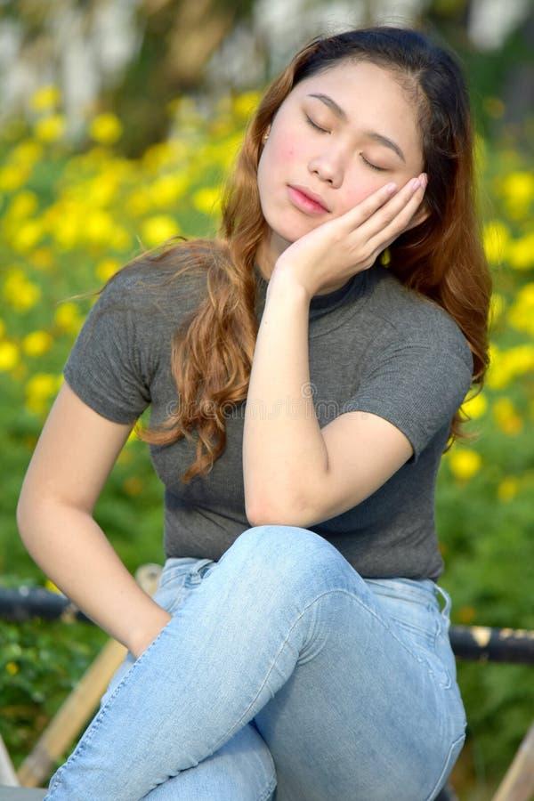 Zmęczona Młodociana Różnorodna kobieta fotografia royalty free