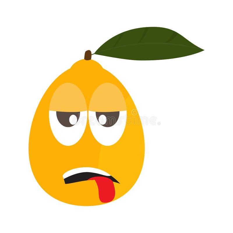 Zm?czona pomara?czowa kresk?wka ilustracji