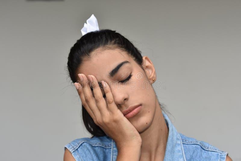 Zmęczona Różnorodna kobieta obrazy stock