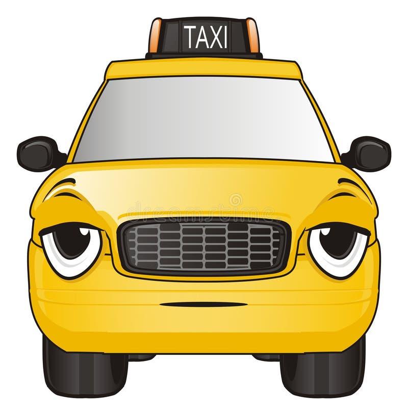 Zmęczona twarz taxi ilustracji