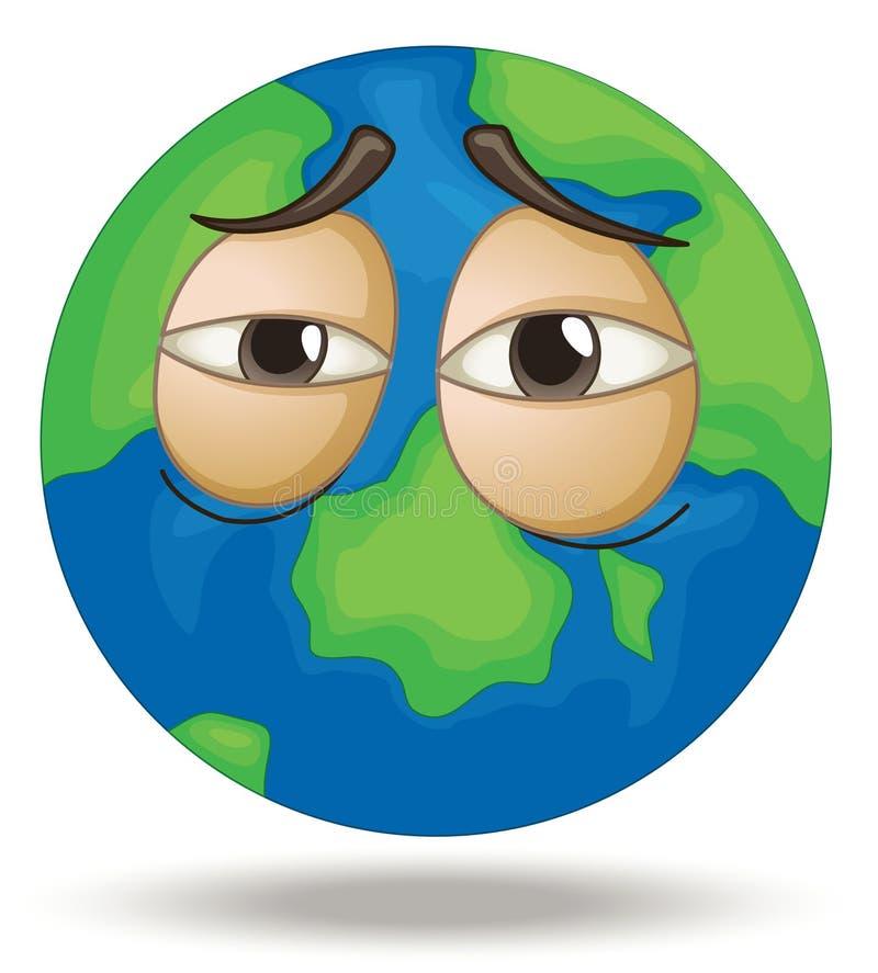 Zmęczona Ziemia ilustracja wektor