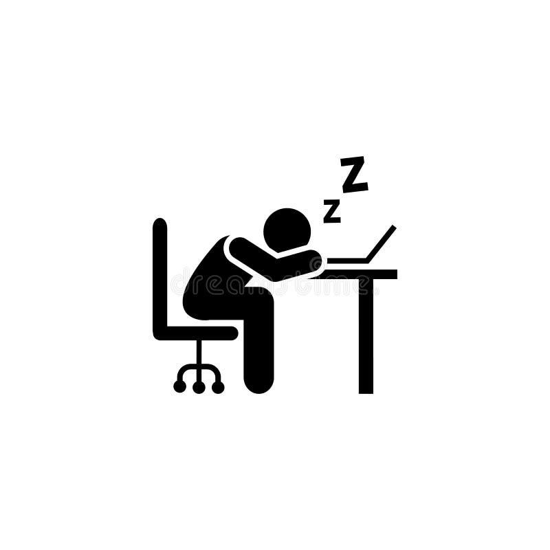 Zmęczony, biznesmen, mienie, sen ikona Element biznesmen ikona Premii ilo?ci graficznego projekta ikona podpisz symboli royalty ilustracja