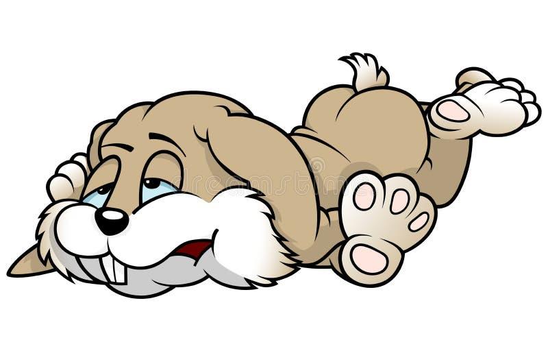 Zmęczony królik ilustracji