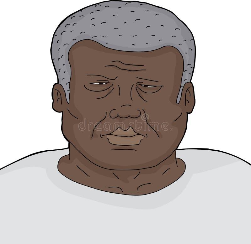 Zmęczony Marszczy brwi mężczyzna ilustracji
