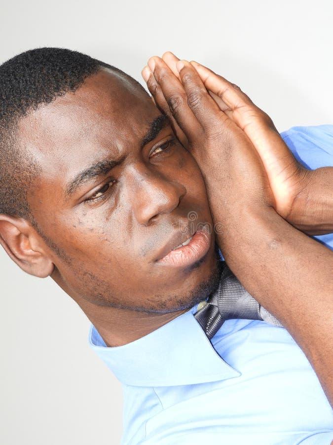 Zmęczony Mniejszościowy Biznesowy mężczyzna zdjęcia stock