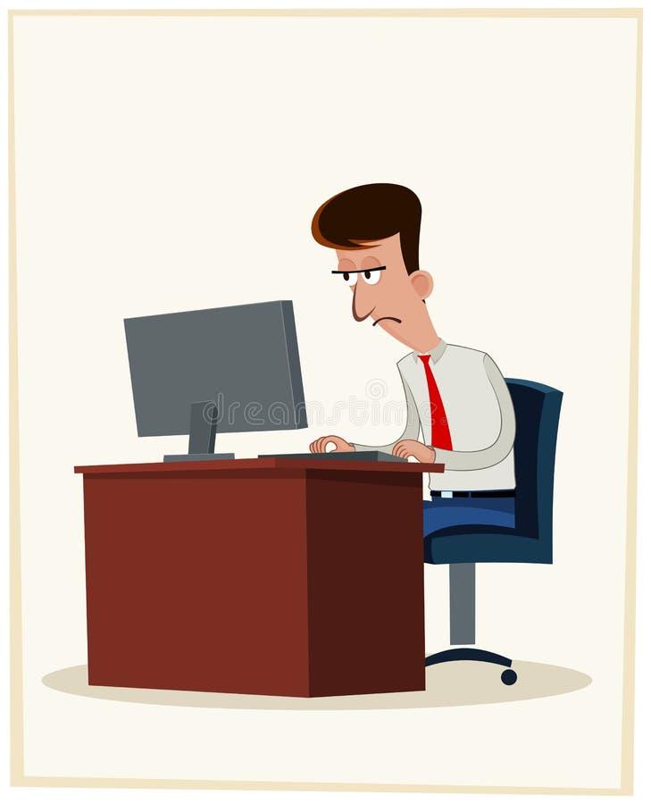 Zmęczony pracownik ilustracji