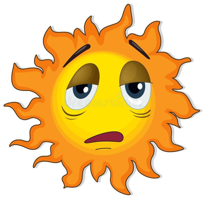 Zmęczony słońce royalty ilustracja