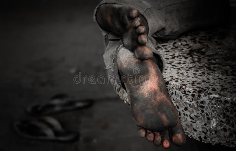 zmęczony stopy obrazy stock