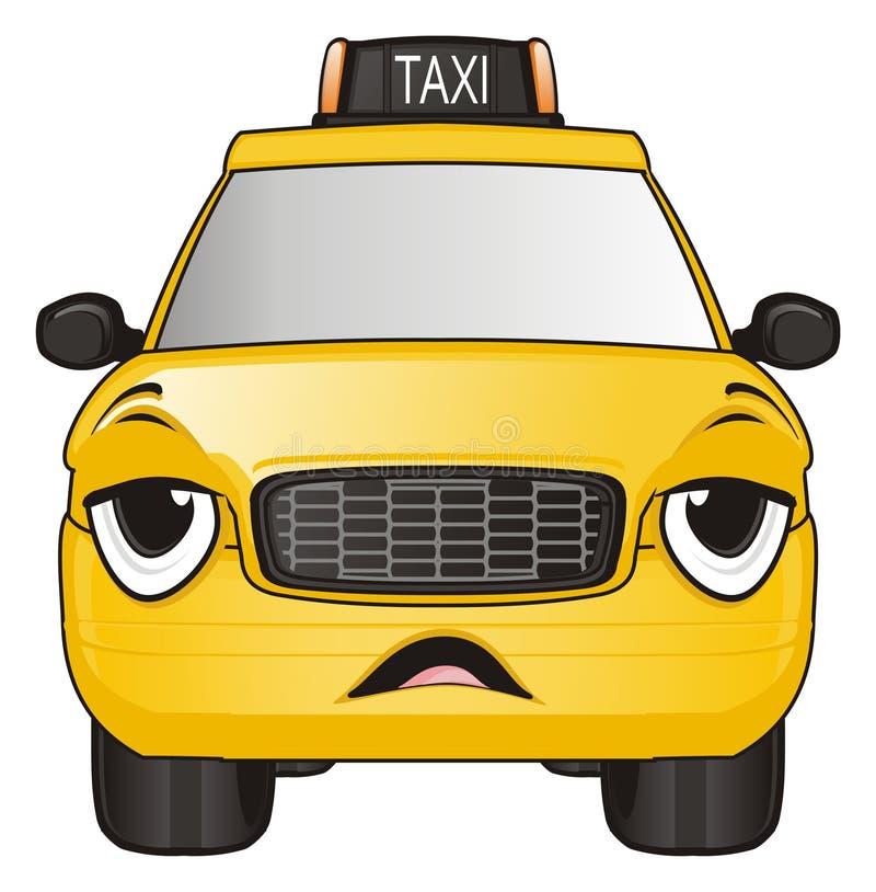 Zmęczony taxi samochód ilustracja wektor