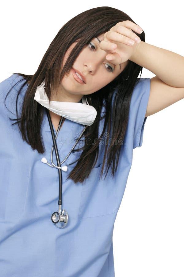 Zmęczony Professiona Opieki Zdrowotnej Zdjęcie Stock