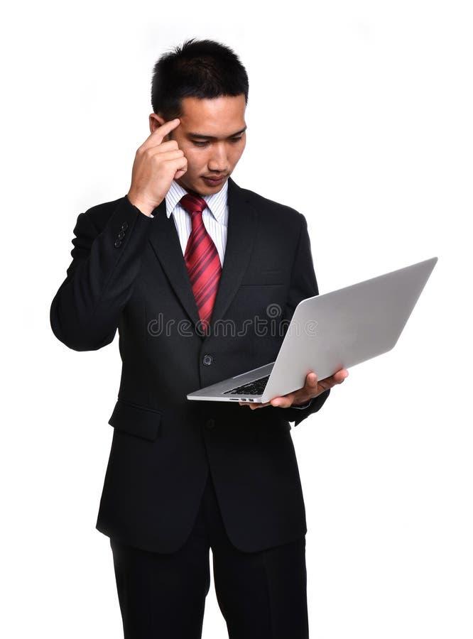 Zmartwienie biznesowy mężczyzna odizolowywający zdjęcia royalty free