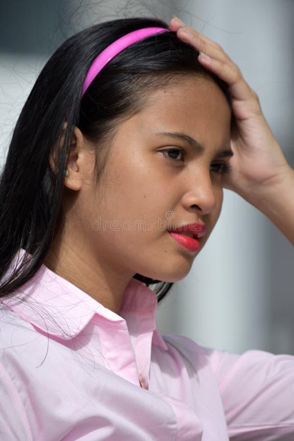 Zmartwiona Śliczna dziewczyny młodość obrazy royalty free