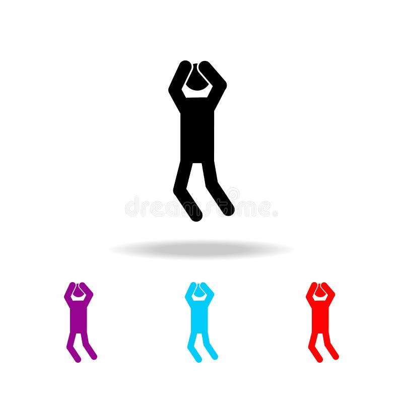Zmartwiona mężczyzna ikona Elementy ludzie w różnych aktywność w wielo- barwionych ikonach Premii ilości graficznego projekta iko ilustracja wektor