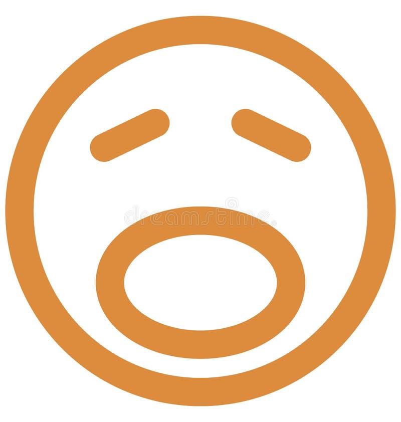 zmartwiony, emoticons Wektorowa Odosobniona ikona emoticons Wektorowa Odosobniona ikona która może łatwo która może modyfikować z royalty ilustracja