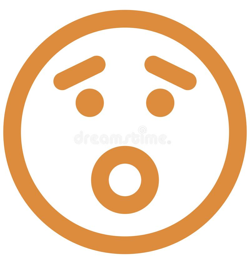 zmartwiony, emoticons Wektorowa Odosobniona ikona emoticons Wektorowa Odosobniona ikona która może łatwo która może modyfikować z ilustracja wektor