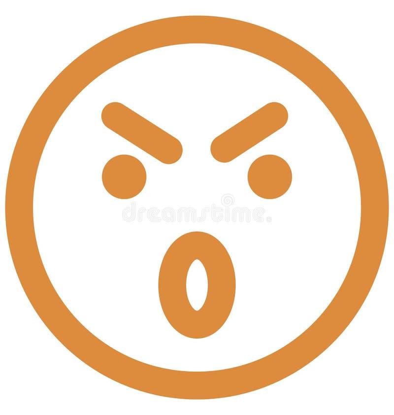 zmartwiony, emoticons Wektorowa Odosobniona ikona emoticons Wektorowa Odosobniona ikona która może łatwo która może modyfikować z ilustracji