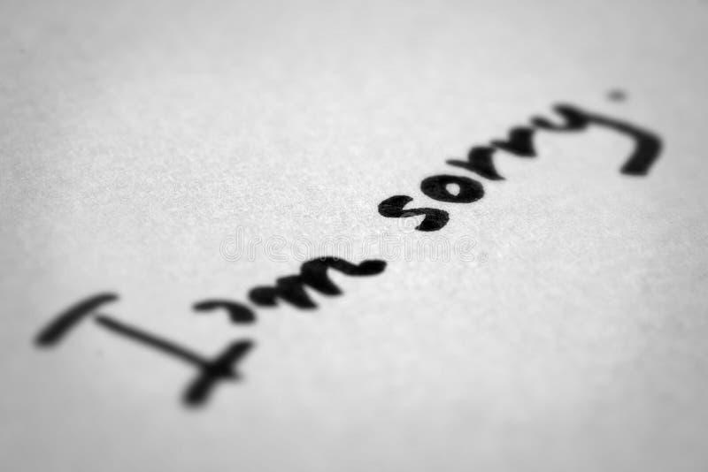 Zmartwiony handwriting zdjęcie royalty free