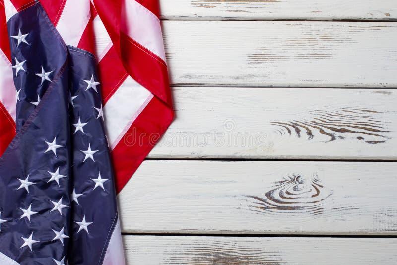Zmięta Flaga Amerykańska zdjęcia stock