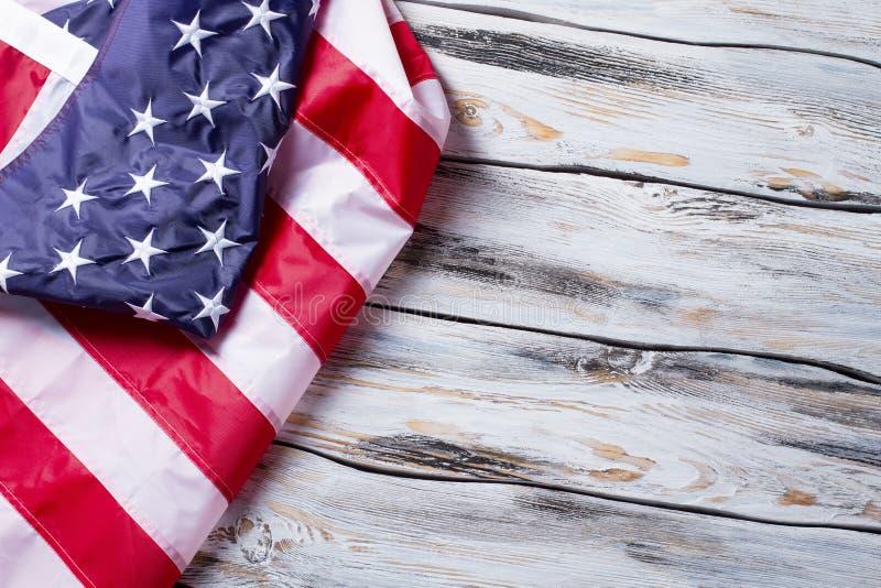 Zmięta flaga Ameryka fotografia royalty free