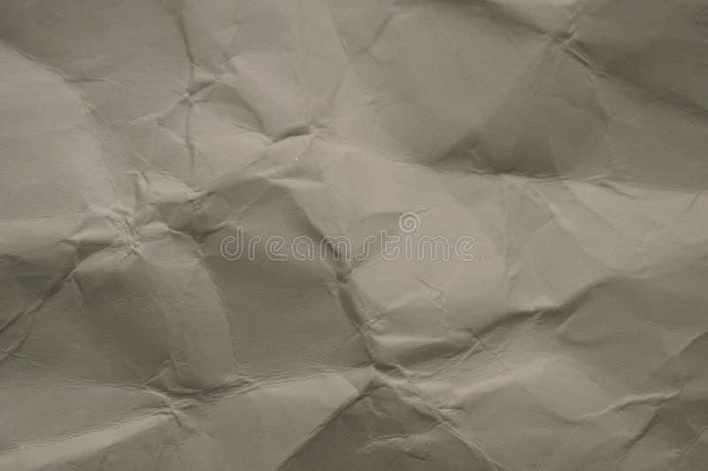 Zmięta pobrudzona uszkadzająca Popielata papierowa tekstura, abstrakta wzór obrazy stock