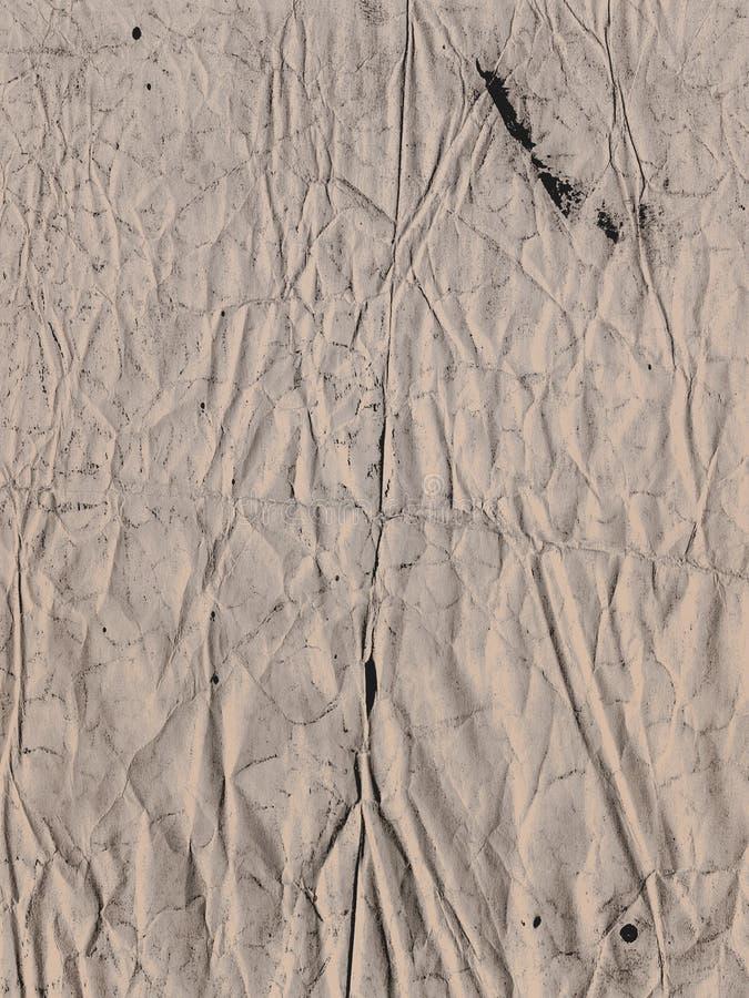 Zmięta stara papierowa tekstura na tło ramie z przestrzenią fotografia stock