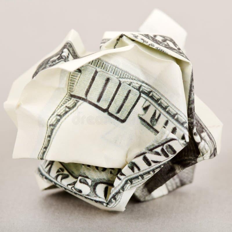 zmięty Amerykanina pieniądze obrazy royalty free