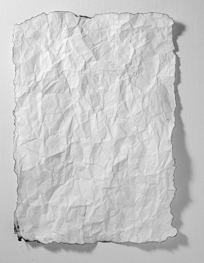 zmięty papierowy biel zdjęcia stock