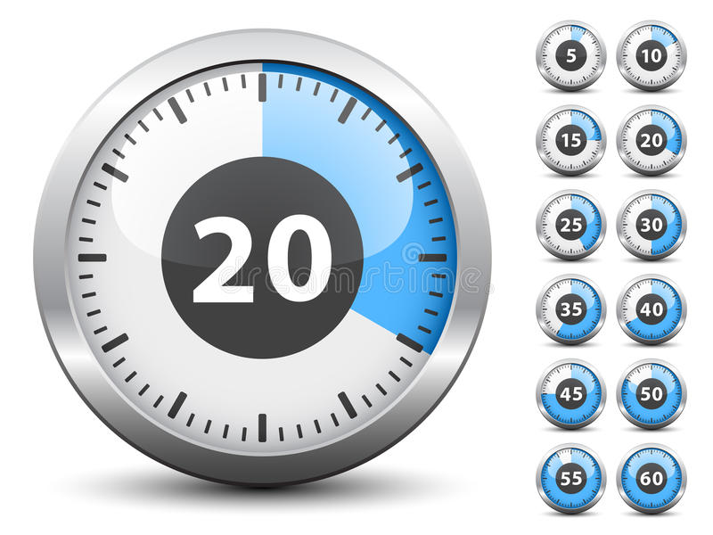 zmiana łatwa czas każdy minutowy jeden zegar ilustracja wektor