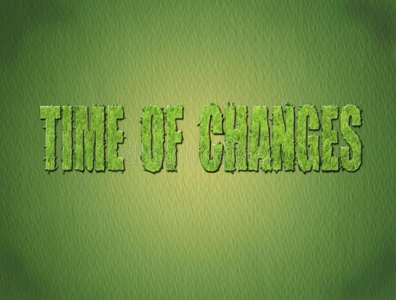 zmiana czas royalty ilustracja
