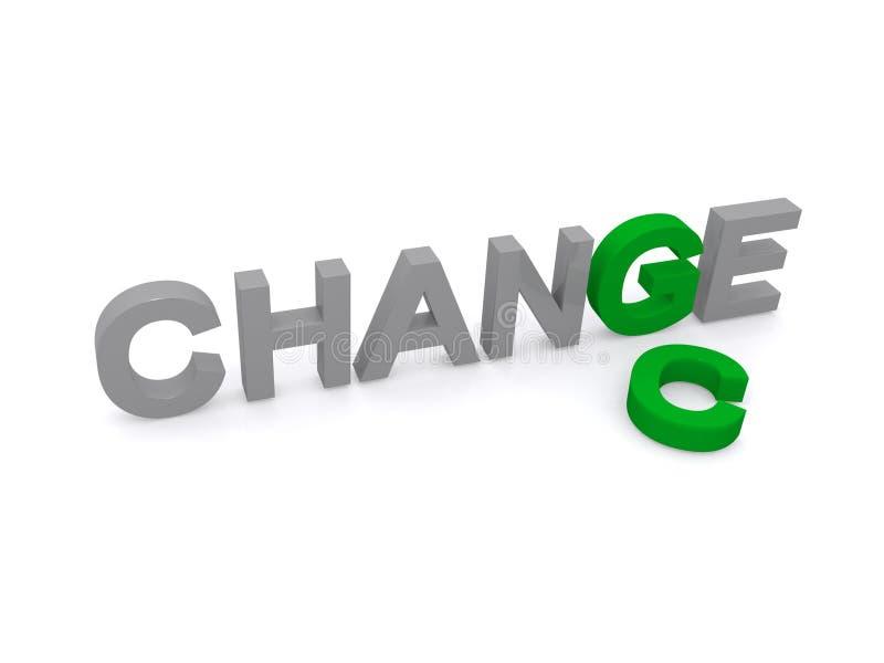 Zmiana i szansa ilustracja wektor