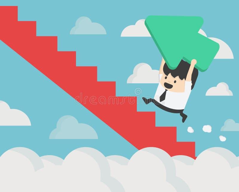 Zmiana kierunek Biznesowego pojęcia wektorowa ilustracja & pr ilustracja wektor