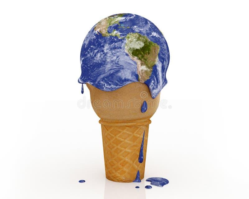 Zmiana Klimatu - lody ziemia ilustracja wektor