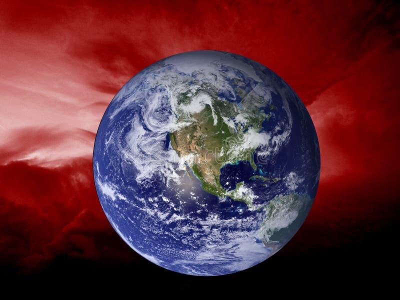Zmiana klimatu powodować globalnym nagrzaniem ilustracji