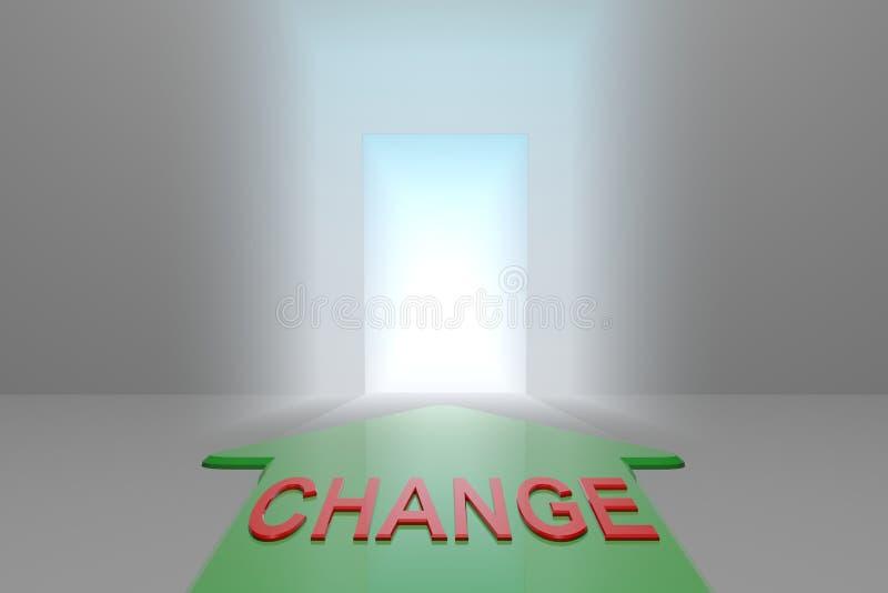 Zmiana otwarta brama ilustracja wektor