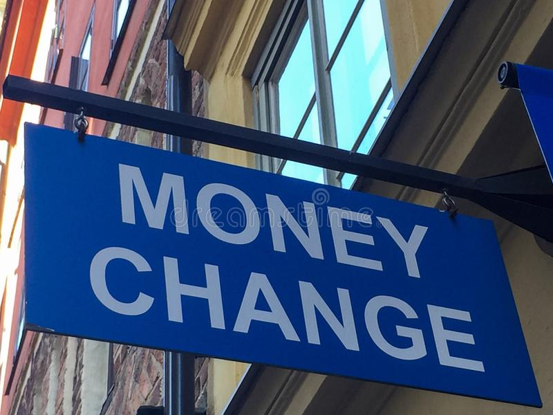 zmiana pieniądze obraz stock