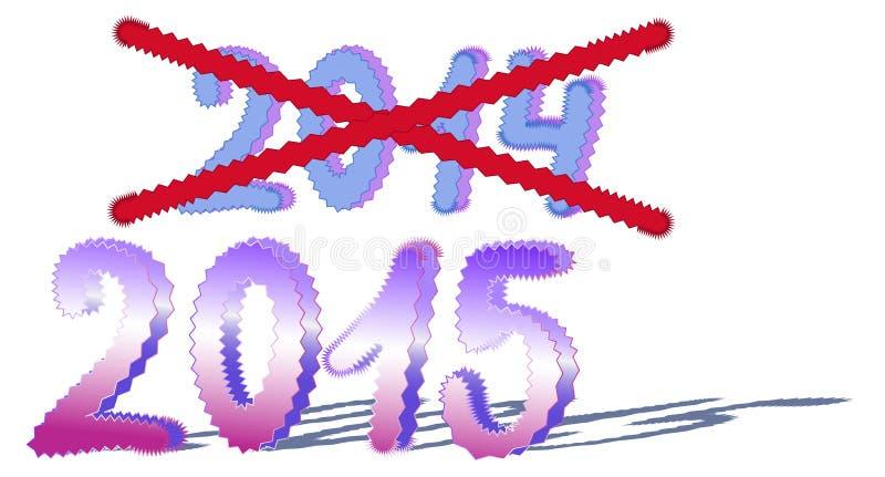 Zmiana rok royalty ilustracja