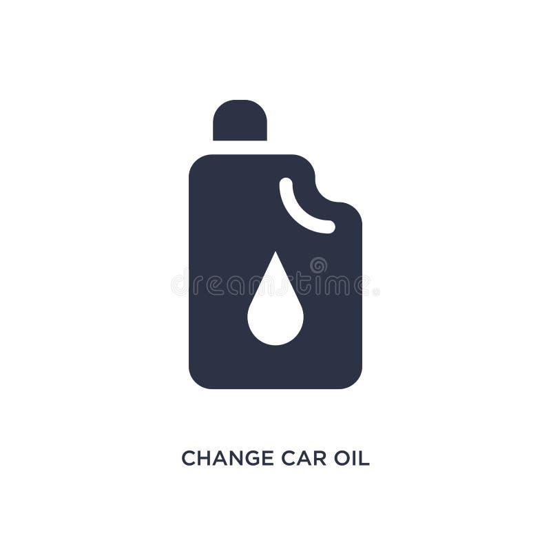 zmiana samochodu oleju ikona na białym tle Prosta element ilustracja od mechanicons pojęcia ilustracja wektor