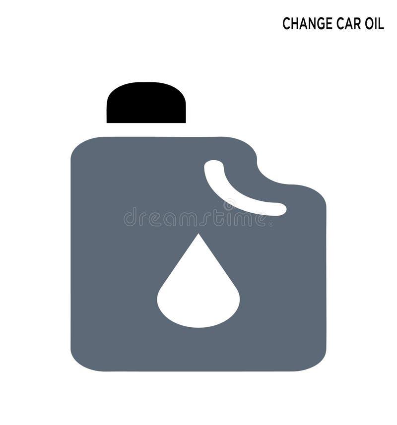 Zmiana samochodu oleju symbolu editable projekt royalty ilustracja