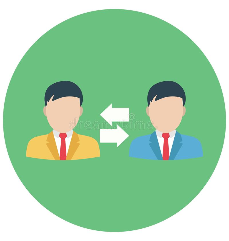 Zmianowy zmiana kolor Odizolowywał Wektorową ikonę Która może być łatwo redaguje lub modyfikuje ilustracji