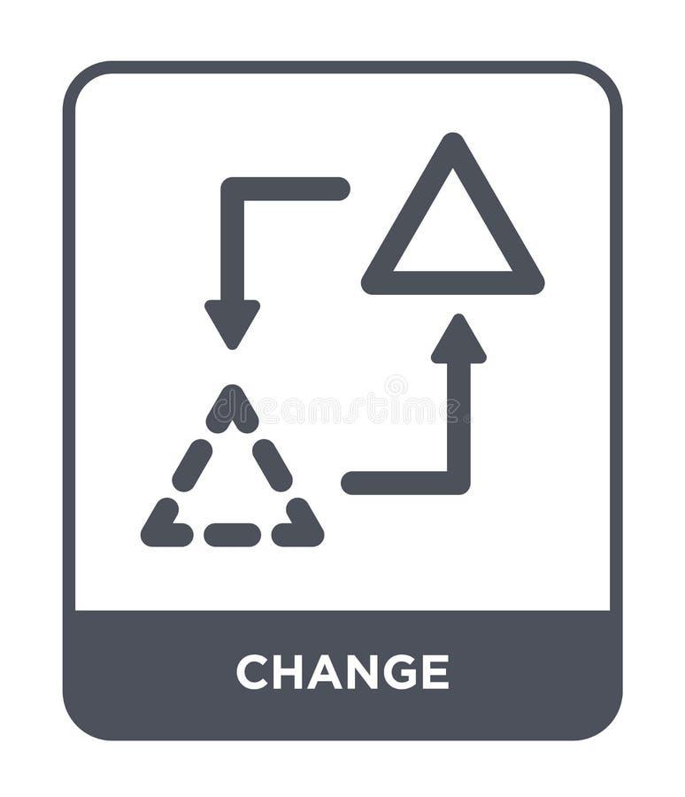 zmiany ikona w modnym projekta stylu Zmiany ikona odizolowywająca na białym tle zmienia wektorowego ikona prostego i nowożytnego  royalty ilustracja