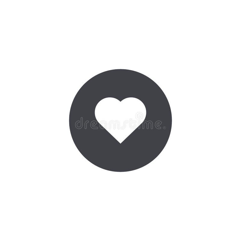 zmiany kierowy ikony czerwieni po prostu wektoru biel Okrąg ikona serce odizolowane kształtu white pomidorowego czerwone róże mił ilustracja wektor