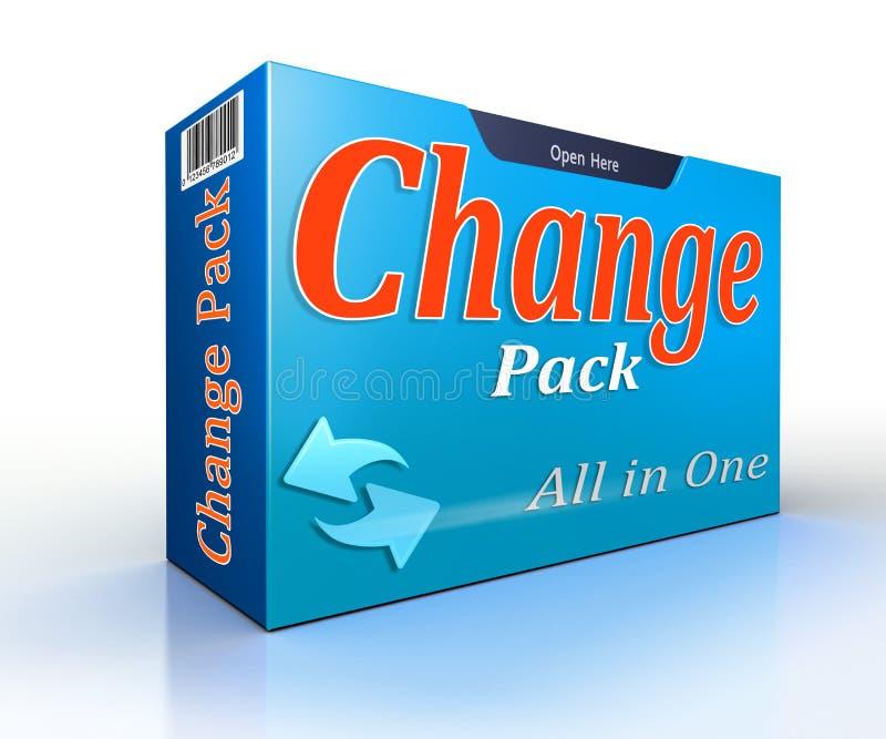 Zmiany paczki oferty konceptualna paczka ilustracja wektor
