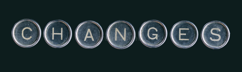 Zmiany słowo robić z guzikami fotografia stock