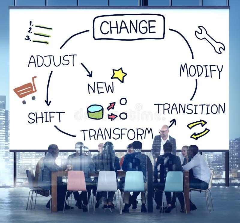 Zmiany ulepszenia rozwój Przystosowywa transformaty pojęcie zdjęcie stock