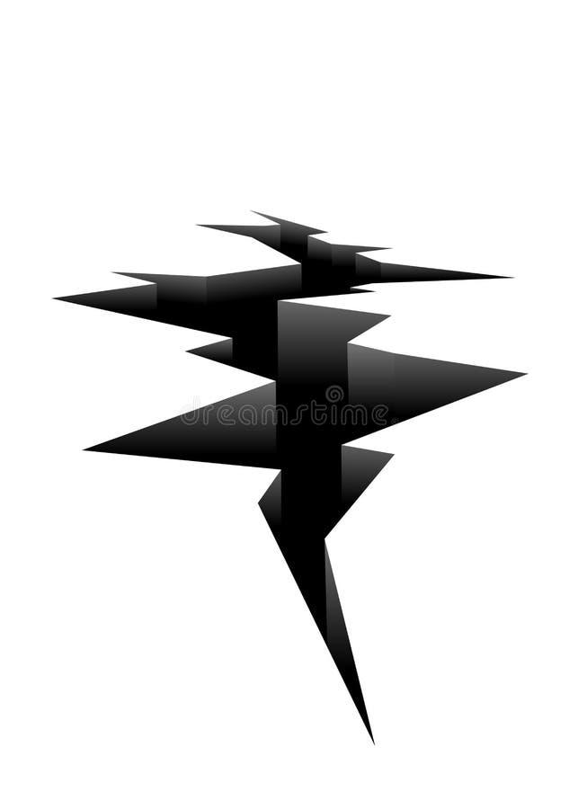 Zmielona krekingowa ikona royalty ilustracja