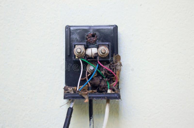 Zmielony druciany kabel zdjęcie stock